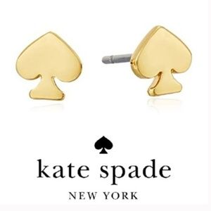 Kate Spade earrings gold logo earrings